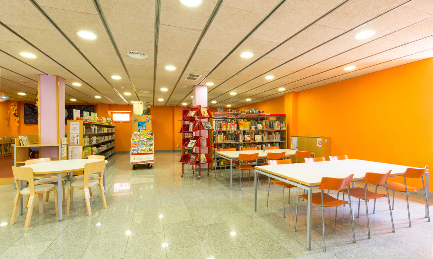 Planta baixa Biblioteca Can Salvador de la Plaça
