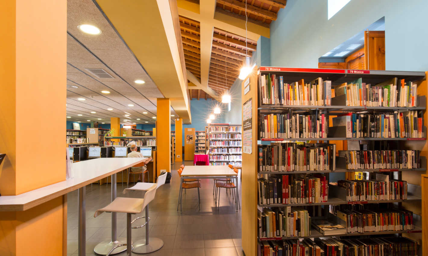 Primera planta Biblioteca Can Salvador de la Plaça