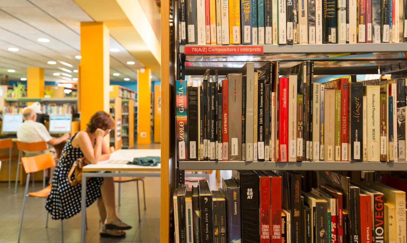 Prestatges de llibres Biblioteca Can Salvador de la Plaça