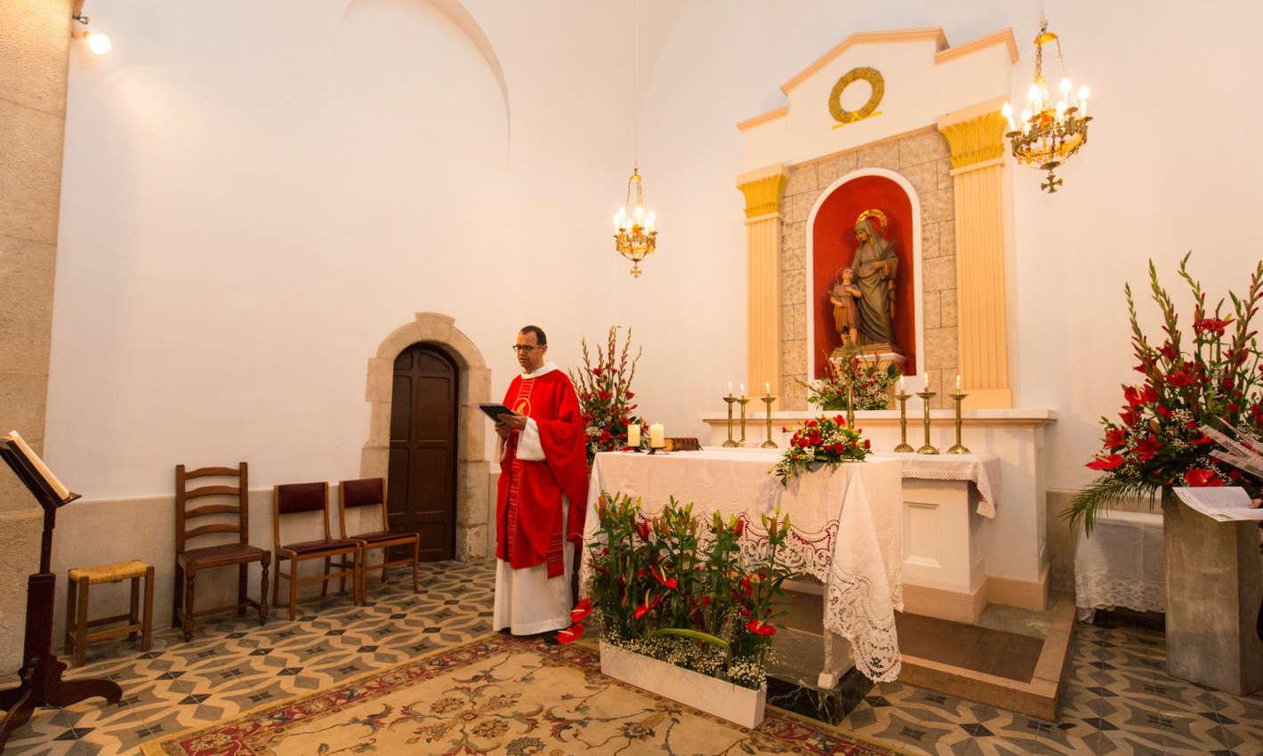 Altar de la capella de Sant Quirze i Santa Julita