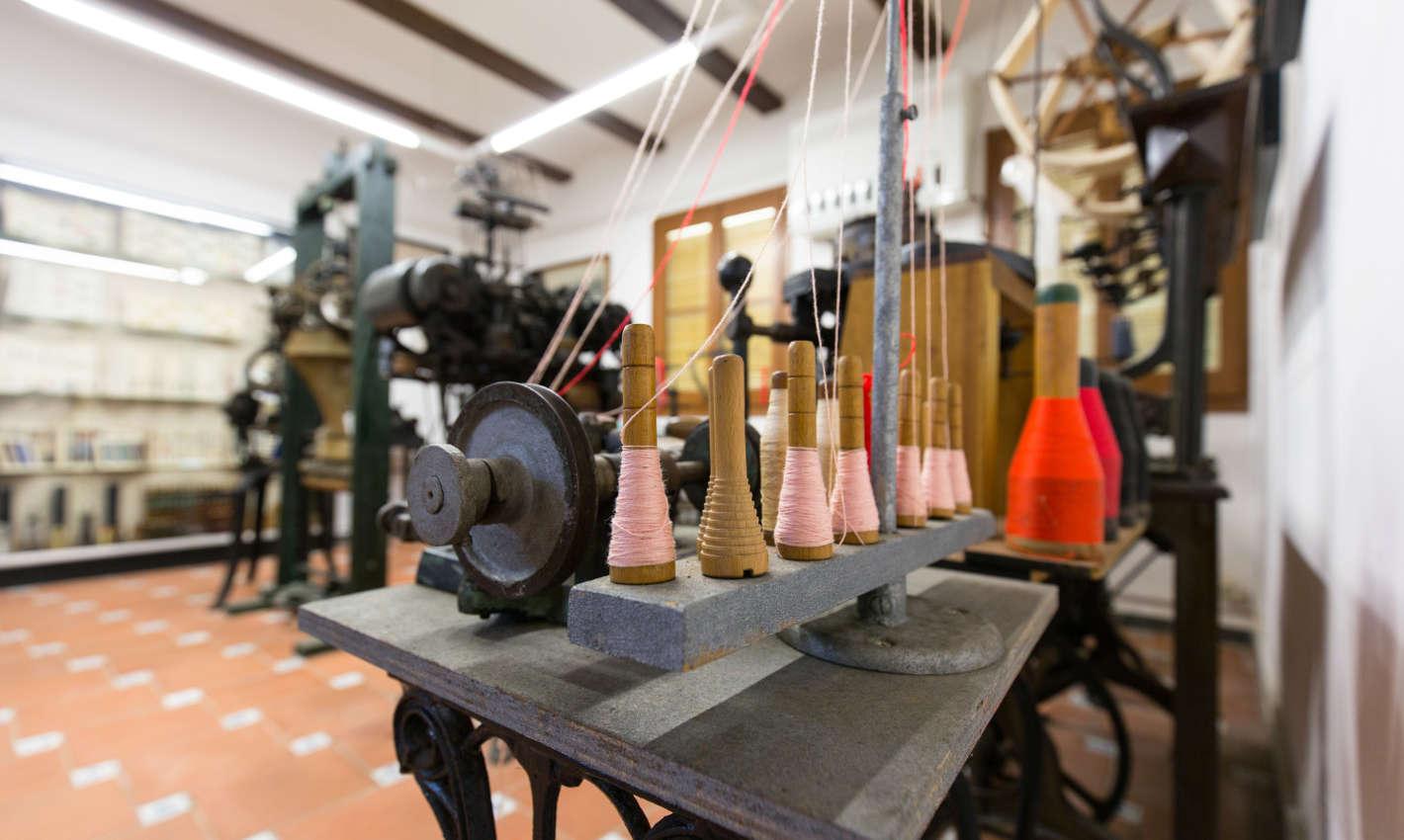 Maquinària tèxtil al Museu-Arxiu Municipal de Calella