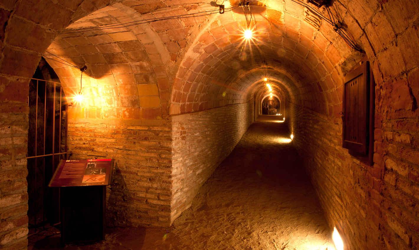 Túnels del Refugi Antiaeri del Parc Dalmau de Calella
