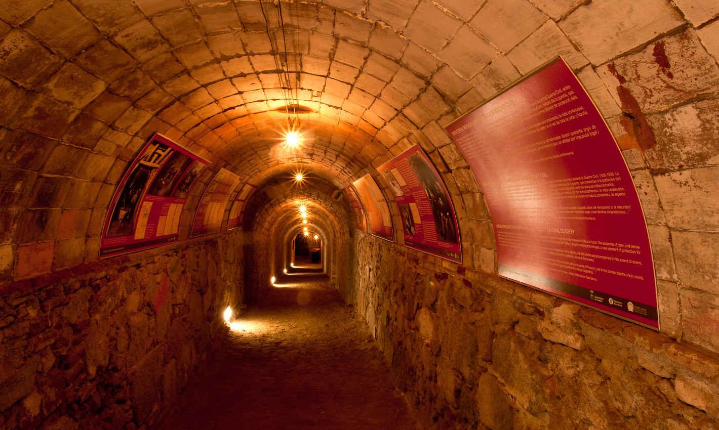 Galeria del Refugi Antiaeri del Parc Dalmau de Calella