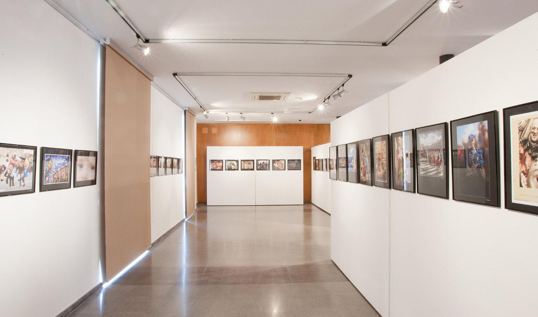 Interior de la sala d'exposicions Ajuntament Vell