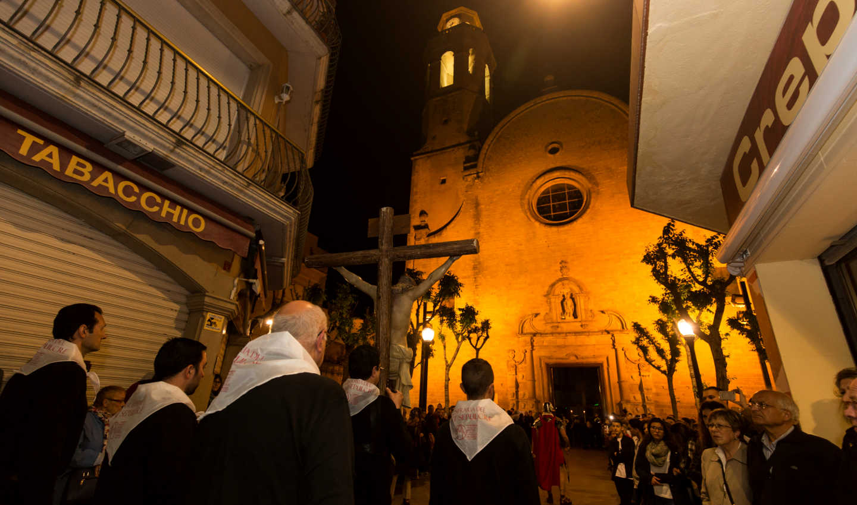 Processó a l'Església de Santa Maria i Sant Nicolau