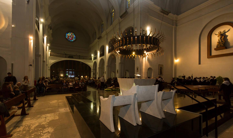 Interior Església Parroquial de Calella